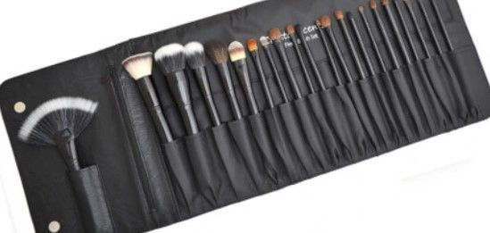 Professional Makeup Brush Set with Folded Pouch
