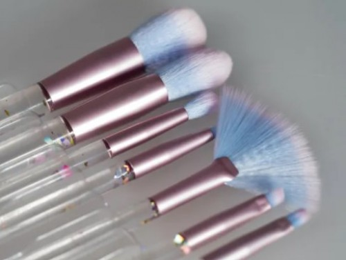 Glitter Cosmetic Brush with Customized Private Label Makeup Brush Set