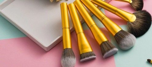 Makeup Brush Set with  Gold Aluminum Handles